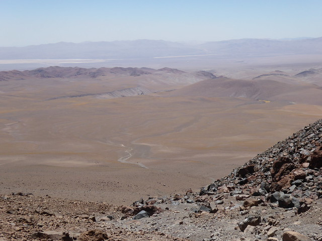 View from site of camp 1 on Llullaillaco