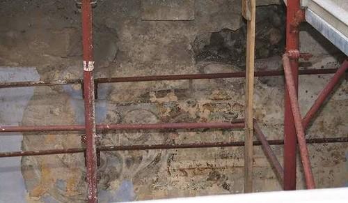 Uno degli affreschi svelati castello casamassima Casamassimaweb