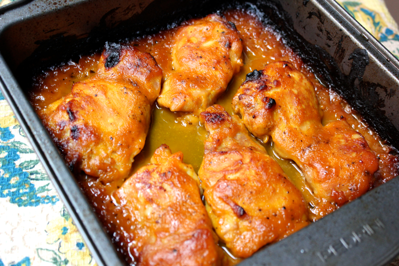 Miso Pumpkin Chicken Thighs