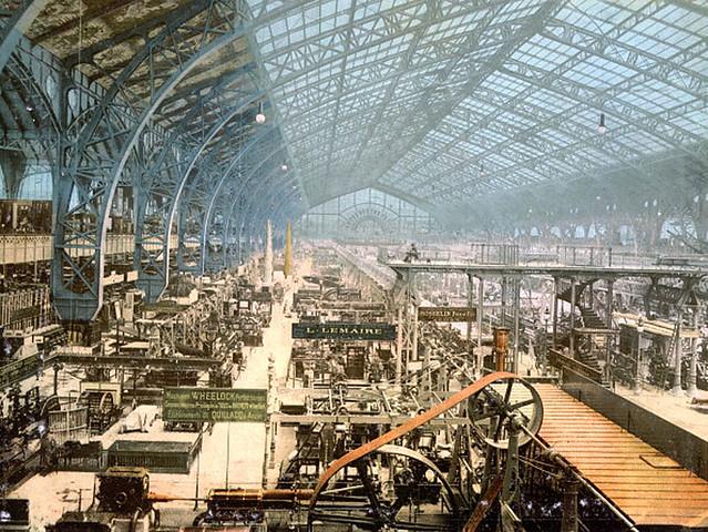 Đấu xảo QT Paris 1889. Gian triển lãm các thiết bị máy móc