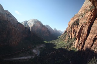 View from Angels Landing.  Zion National Park, Utah.