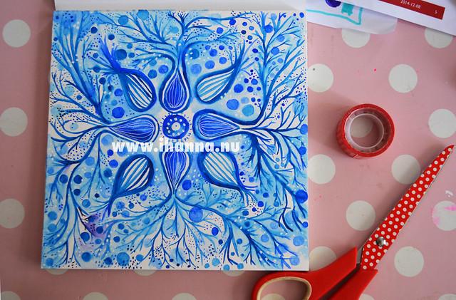 Watercolor Mandala Painting #1 2015, by Hanna Andersson, aka iHanna #mandala