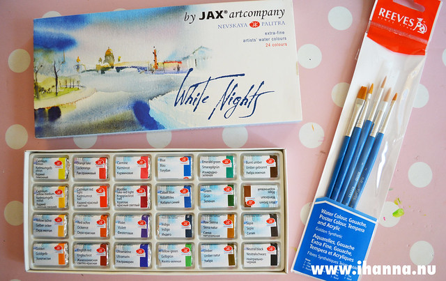 White Nights 24 Watercolours Set by iHanna