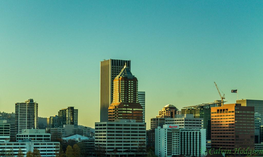 Portland Skyline Evening