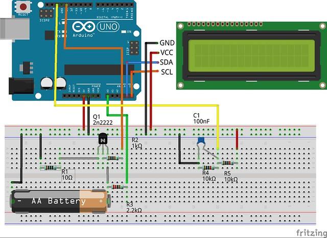 arduino製作電池測試器