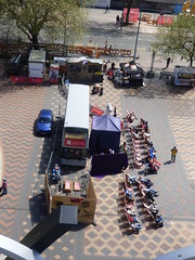 International Dance Festival Birmingham 2016 - Centenary Square - bus and market stalls