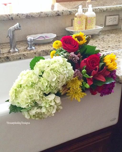Farmhouse Sink/Flowers - Housepitality Designs