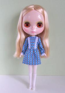 Bright sky mini dress