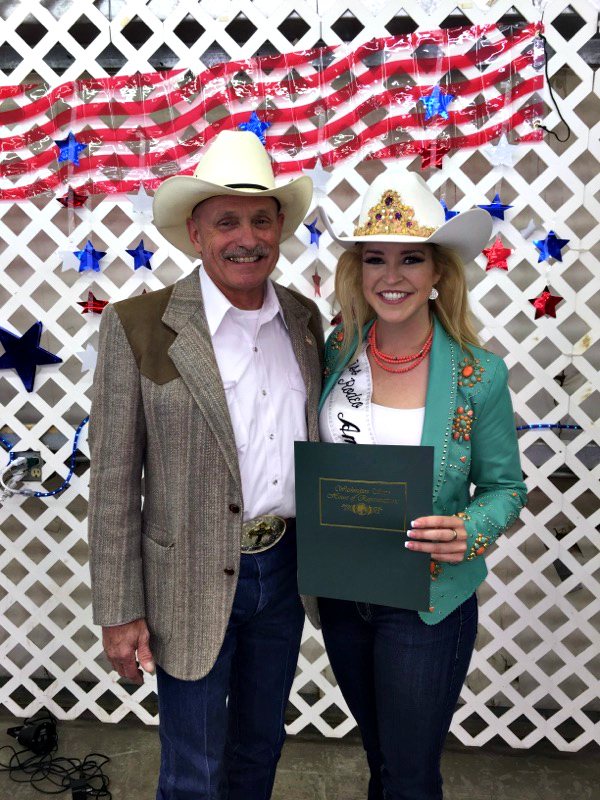 Rep. Dent presents Miss Rodeo America Katherine Merck with a House Resolution honoring her achievements