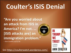 Coulter's ISIS Denial