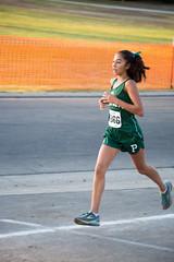 Kai finishing her race