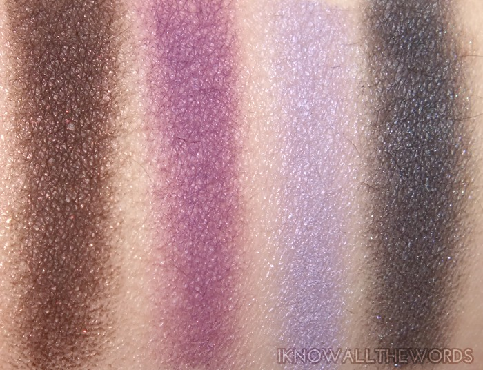 clinique a black honey affair palette swatches  (1)