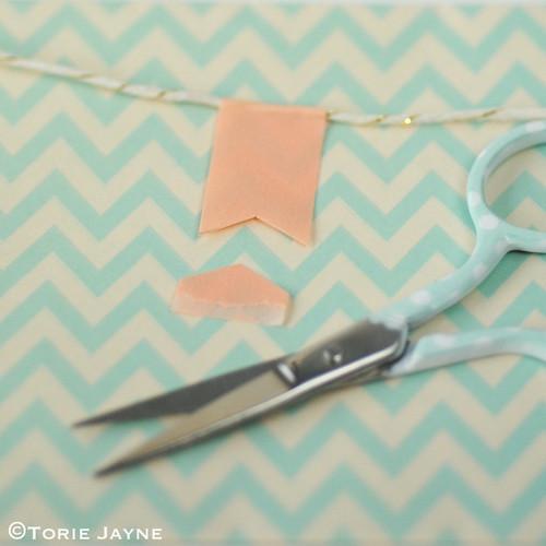 'Merry Christmas' pretty washi tape bunting tutorial 3