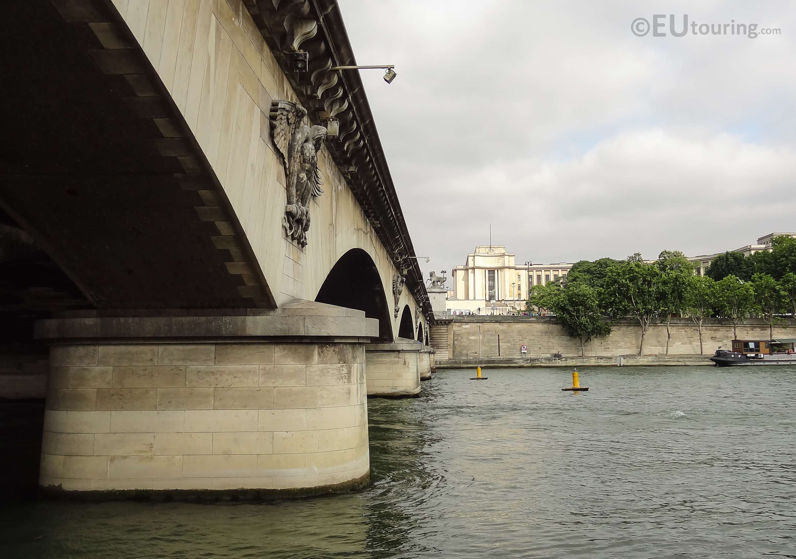 Side of the Pont d'Iena in Paris