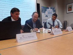 Dr. Vitaly Kozyrev, Dr. William Norris and Dr. Satu Limaye discussion the likelihood of convergence between China and Russia in Eurasia, where both seek to pursue similar goals.
