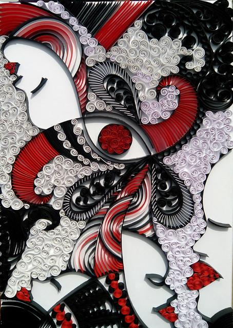 Paper quilling by Ayobola Kekere-Ekun - Faces