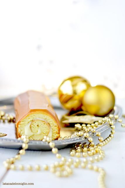 buche de noel caramello e cioccolato bianco5