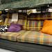 3 seater mix fabric sofa