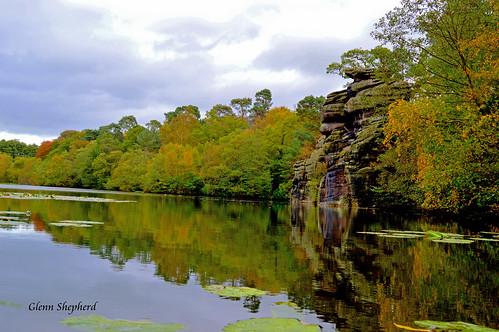 water rock reflections yorkshire plumpton