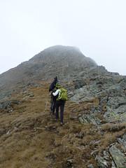 Die letzten Meter zum Gipfel des Riepenspitz