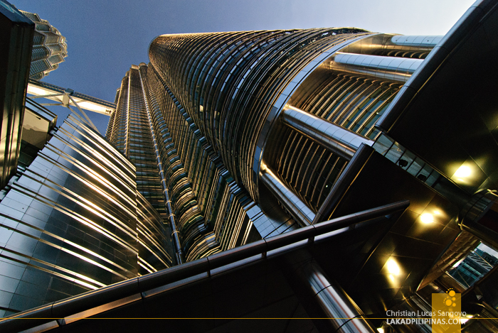Steel and Glass Makes up the Petronas Towers in Kuala Lumpur, Malaysia