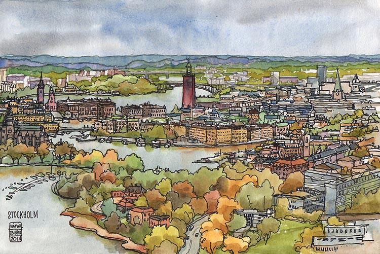 Stockholm from Kaknästornet