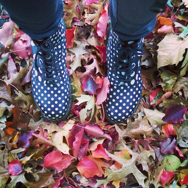 Fall is here.  #fall #autumn #leaves #Brooklyn #drmartens