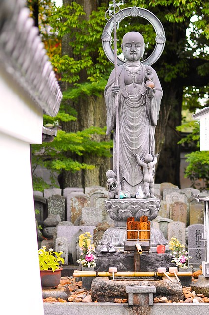 Buddha statue at temple cemetery