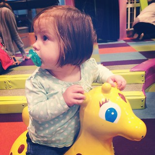 You know, just riding a giraffe at the children's museum.