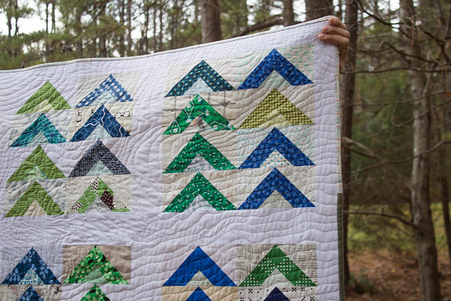 Tent Camp Quilt - Closeup