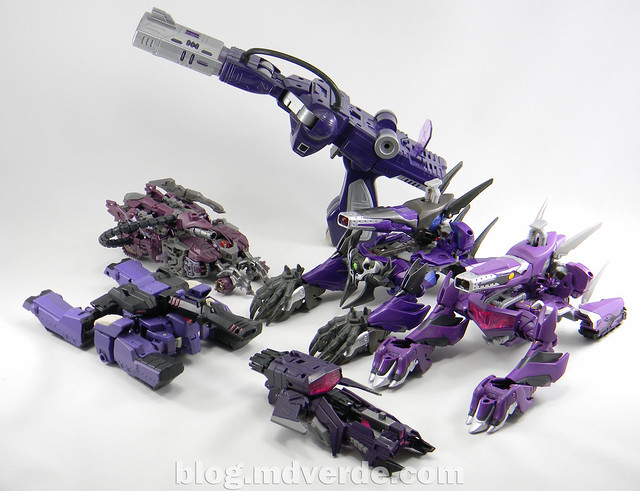 Transformers Hunter Shockwave Voyager - Transformers Go - modo alterno vs otros Shockwave