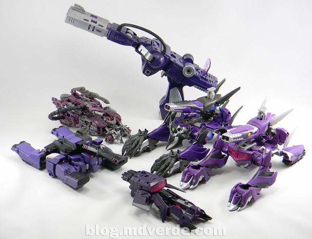 Transformers Hunter Shockwave Voyager - Transformers Go - modo alterno vs otros Shockwave