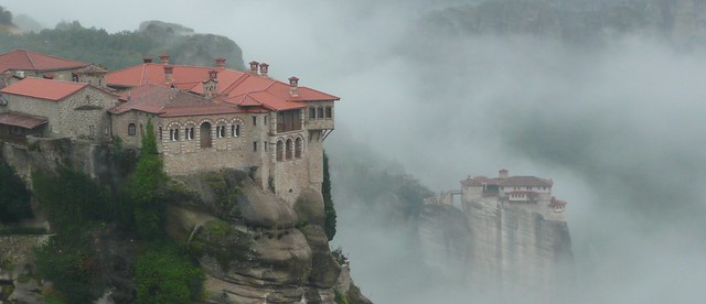 Varlaam and Rousanou Monasteries, Meteora, Greece
