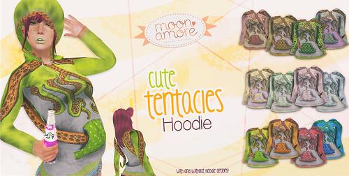 :Moon Amore: Cute tentacles hoddie