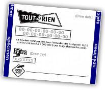 Lotto Tout-ou-Rien Makine Çıktı Görüntüsü