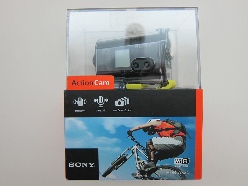 Sony HDRAS20/B Action Video Camera - Box Front