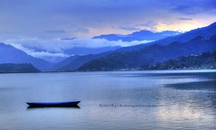 An evening in Fewa Lake, Pokhara