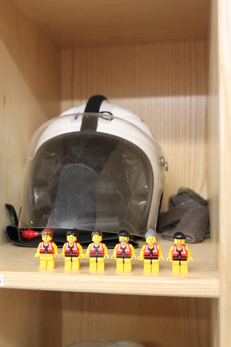 The little guys with a helmet