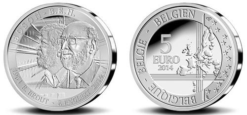 Belgium Higgs Boson 5 Euro Coin