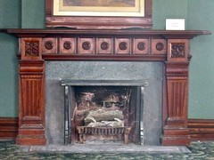 Hotel Florence Ladies' Parlor fireplace