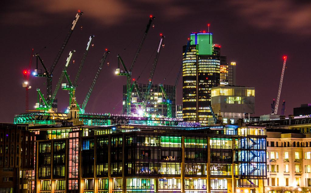 Construction crane crazy
