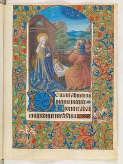 Christmas scene in a 15th century manuscript
