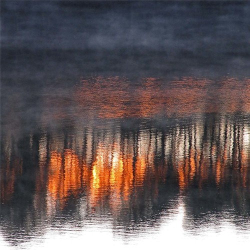 morning autumn light mist lake abstract reflection sunrise georgia landscape golden treeline hiawassee chatuge