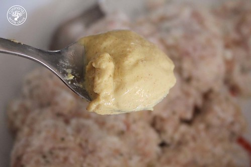 Bolitas de pollo, queso y mostaza www.cocinandoentreolivos.com (9)