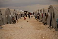 Imigrant tents in Suruç