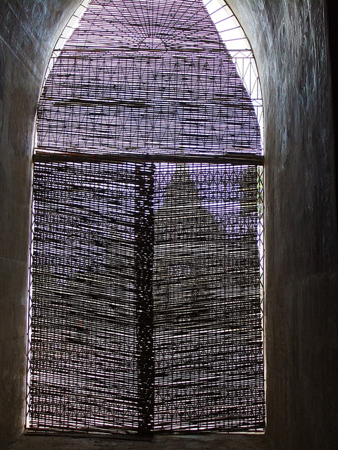 Screened Window at the Ananda Pagoda in Bagan, Myanmar