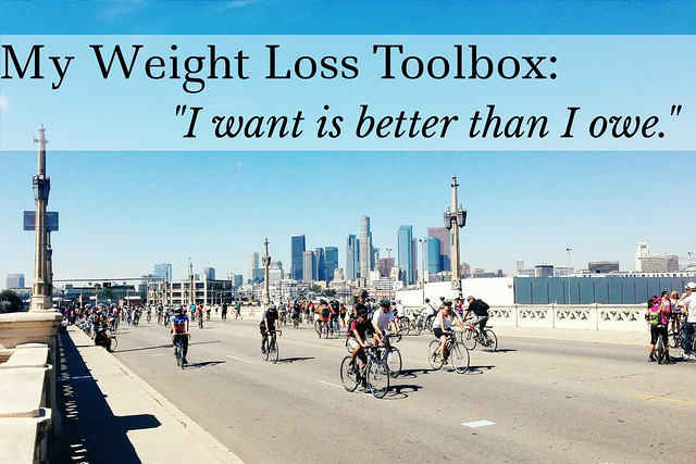 "my weight loss toolbox: ""i want is better than i owe"""