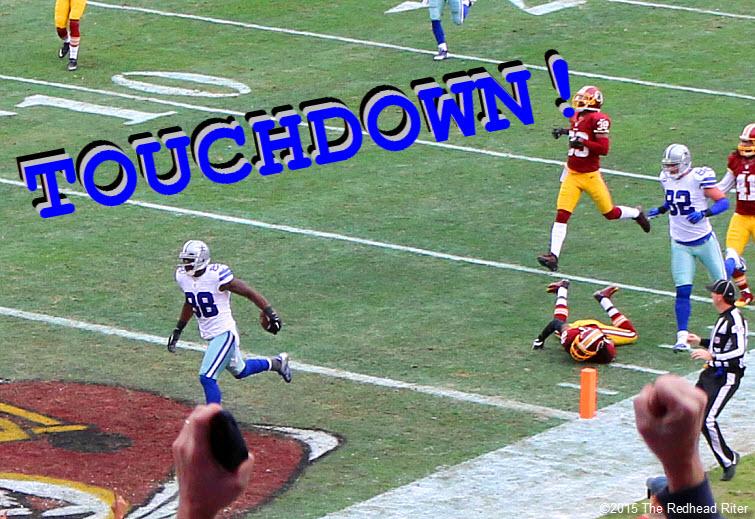 14 dallas cowboys  getting a touchdown against washington redskins