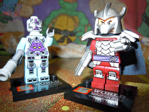 "Sheng Yuan TEENAGE MUTANT NINJA TURTLES :: ""SHREDDER"" Bootleg Minifigure Set xiv  / ..with Sheng Yuan ""KRAANG"" Bootleg '14 (( 2014 ))"