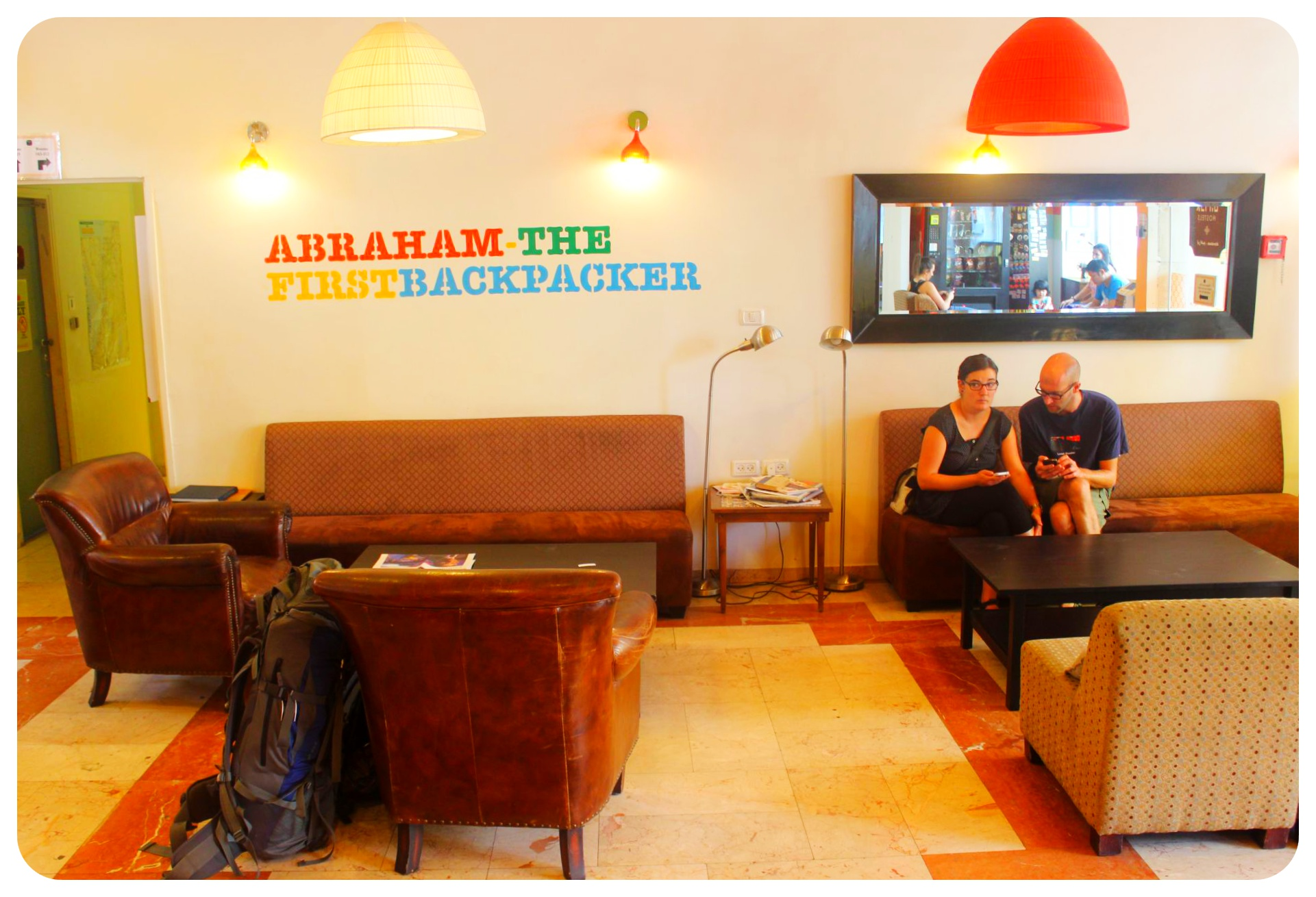 abraham hostel jerusalem lobby